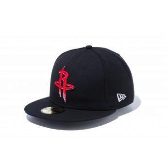 NEW ERA ニューエラ 59FIFTY NBA ヒューストン・ロケッツ ブラック × チームカラー ベースボールキャップ キャップ 帽子 メンズ レディース 7 (55.8cm) 12019018 NEWERA