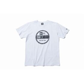 【ニューエラ公式】 コットン Tシャツ バイザーステッカー ホワイト × ブラック メンズ レディース Large 半袖 Tシャツ 11782974 NEW ERA