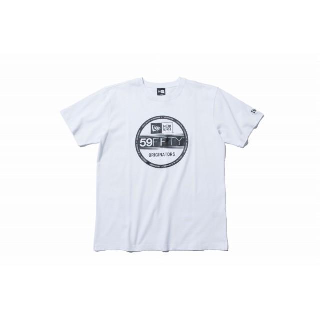 NEW ERA ニューエラ コットン Tシャツ バイザーステッカー ホワイト × ブラック 半袖 ウェア メンズ レディース Large 11782974 NEWERA