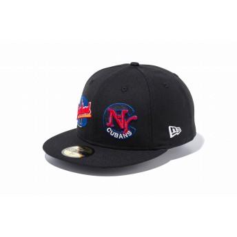 NEW ERA ニューエラ 59FIFTY ニグロリーグ ニューヨーク・キューバンズ クリーブランド・バックアイズ ブラック × チームカラー ベースボールキャップ キャップ 帽子 メンズ レディース 7 1/2 (59.6cm) 11907013 NEWERA