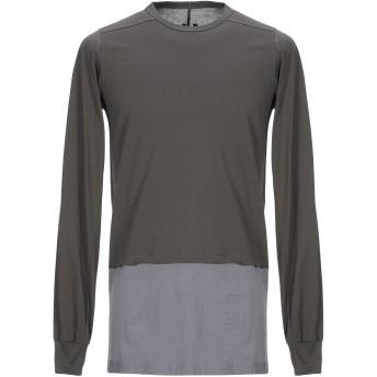 《セール開催中》DRKSHDW by RICK OWENS メンズ T シャツ 鉛色 S コットン 100%