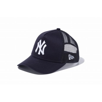 NEW ERA ニューエラ キッズ 9FORTY A-Frame トラッカー ニューヨーク・ヤンキース ネイビー × ホワイト アジャスタブル サイズ調整可能 ベースボールキャップ キャップ 帽子 男の子 女の子 52 - 55.8cm 11433929 NEWERA メッシュキャップ