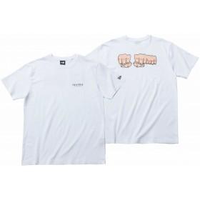 【ニューエラ公式】 コットン Tシャツ TOY MACHINE トイマシーン フィスト ニューエラ ホワイト メンズ レディース Large 半袖 Tシャツ 11909100 コラボ NEW ERA