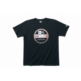 【ニューエラ公式】 パフォーマンス Tシャツ バスケットボール バイザーステッカー ブラック メンズ レディース Large 半袖 Tシャツ 11901346 NEW ERA
