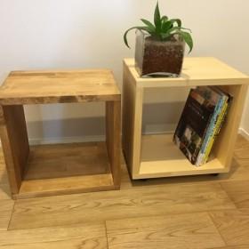木のぬくもり感じるサイドテーブル 、ローテーブル