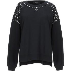 《セール開催中》MY TWIN TWINSET レディース スウェットシャツ ブラック XXS コットン 100% / ポリエステル / ポリウレタン