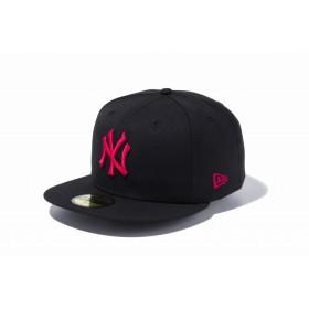【ニューエラ公式】 59FIFTY MLB ニューヨーク・ヤンキース ブラック × ストロベリー メンズ レディース 7 (55.8cm) MLB キャップ 帽子 11308565 NEW ERA