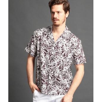 【44%OFF】 ムッシュニコル ボタニカル柄オープンカラーシャツ メンズ 07ボルドー 46(M) 【MONSIEUR NICOLE】 【タイムセール開催中】