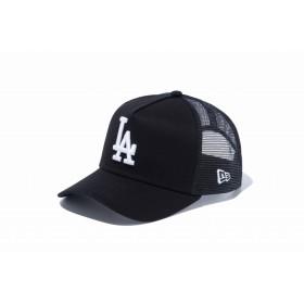 【ニューエラ公式】キッズ 9FORTY A-Frame トラッカー ロサンゼルス・ドジャース ブラック × ホワイト 男の子 女の子 52 - 55.8cm MLB キャップ 帽子 12018915 NEW ERA メッシュキャップ