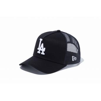 NEW ERA ニューエラ キッズ 9FORTY A-Frame トラッカー ロサンゼルス・ドジャース ブラック × ホワイト アジャスタブル サイズ調整可能 ベースボールキャップ キャップ 帽子 男の子 女の子 52 - 55.8cm 12018915 NEWERA メッシュキャップ