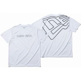 【ニューエラ公式】 テック Tシャツ ニューエラ ワードマーク & ビッグフラッグ ホワイト NEW ERA WORKOUT メンズ レディース Medium 半袖 Tシャツ 12018849 NEW ERA