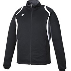 asics アシックス オールスポーツ デコトレーニングジャケット XAT12D-90 ブラック 男女兼用 アパレル お取り寄せ商品