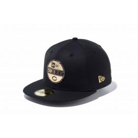 【ニューエラ公式】 59FIFTY NPB バイザーステッカー 広島東洋カープ ブラック × ゴールド メンズ レディース 7 1/2 (59.6cm) NPB キャップ 帽子 11901316 NEW ERA