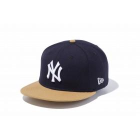 【ニューエラ公式】 9FIFTY ニューヨーク・ヤンキース ネイビー × ホワイト ウィートバイザー メンズ レディース 57.7 - 61.5cm MLB キャップ 帽子 11308465 NEW ERA