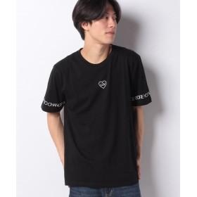 【22%OFF】 ウィゴー ハートスリーブプリントTシャツ(S) ユニセックス ブラック M 【WEGO】 【タイムセール開催中】