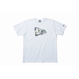 NEW ERA ニューエラ パフォーマンス Tシャツ ボタニカル フラッグロゴ ホワイト × ネイビーボタニカル 半袖 ウェア メンズ レディース 2X-Large 11901341 NEWERA