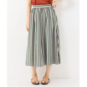 Spick&Span スピック&スパン マルチストライプギャザースカート