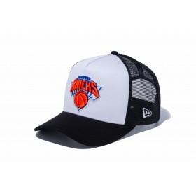 【ニューエラ公式】 9FORTY D-Frame トラッカー ニューヨーク・ニックス ホワイト × チームカラー ブラックメッシュ メンズ レディース 55.8 - 59.6cm NBA キャップ 帽子 12018960 NEW ERA