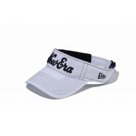 【ニューエラ公式】 ゴルフ サンバイザー ストレッチコットン ウォッシャブル New Eraオールドロゴ ホワイト × ブラック メンズ レディース 55.8 - 59.6cm キャップ 帽子 11899098 NEW ERA