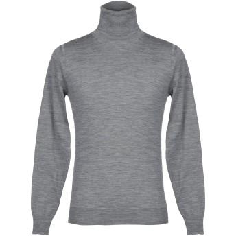 《セール開催中》PAOLO PECORA メンズ タートルネック グレー S ウール 100%