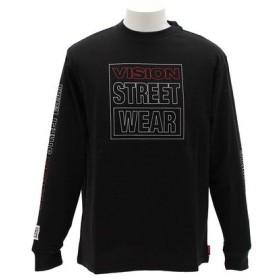 VISION 袖プリント 長袖Tシャツ 8323141-01BLK (Men's)