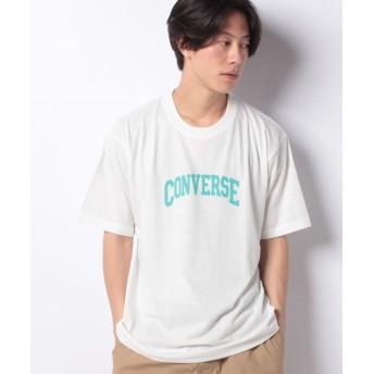 マルカワ 大きいサイズ メンズ コンバース Tシャツ 半袖 プリント ロゴ ブランド メンズ ホワイト XL 【MARUKAWA】