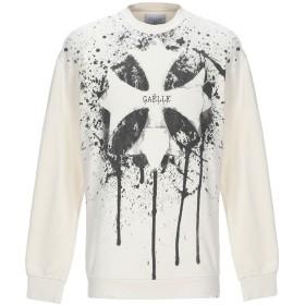 《期間限定 セール開催中》GALLE Paris メンズ スウェットシャツ アイボリー S コットン 100%