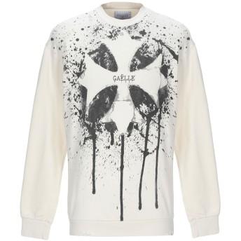 《期間限定セール開催中!》GALLE Paris メンズ スウェットシャツ アイボリー S コットン 100%