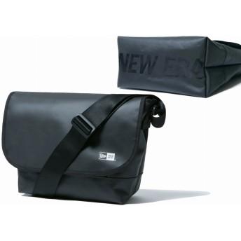 NEW ERA ニューエラ ショルダーバッグ 9L プリントロゴ ブラックターポリン × ブラック PC収納 バッグ メンズ レディース ワンサイズ 11901928 NEWERA