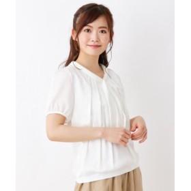 (SOUP/スープ)シルキー切替ボウタイシャツ/レディース オフホワイト(003) 送料無料