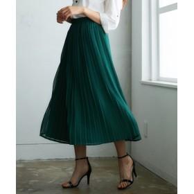 シフォンプリーツロングスカート (ロング丈・マキシ丈スカート),skirt