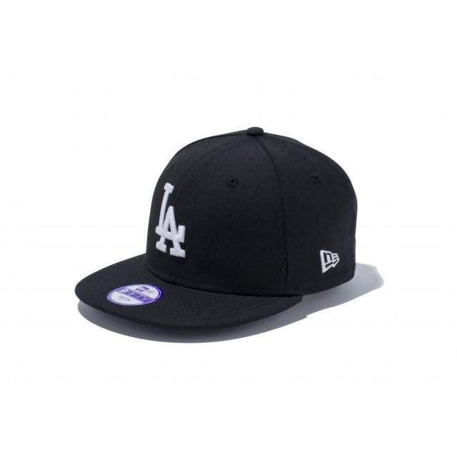 【ニューエラ公式】キッズ 9FIFTY ロサンゼルス・ドジャース ブラック × ホワイト 男の子 女の子 52 - 55.8cm MLB キャップ 帽子 11308491 NEW ERA