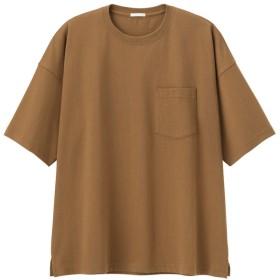 (GU)スーパービッグT(5分袖) BROWN XL