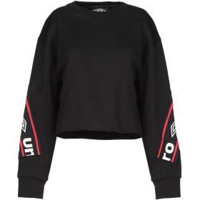 《送料無料》UMBRO レディース スウェットシャツ ブラック S コットン 100%