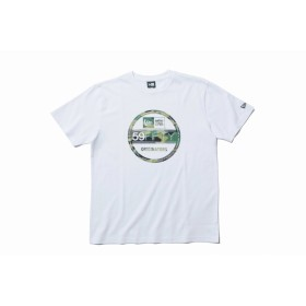 【ニューエラ公式】 コットン Tシャツ ウッドランドカモ バイザーステッカー ホワイト メンズ レディース X-Large 半袖 Tシャツ 11901371 NEW ERA