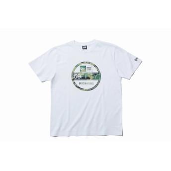 NEW ERA ニューエラ コットン Tシャツ ウッドランドカモ バイザーステッカー ホワイト 半袖 ウェア メンズ レディース X-Large 11901371 NEWERA