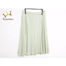 ロイスクレヨン Lois CRAYON スカート サイズM レディース ライトグリーン プリーツ   スペシャル特価 20190907