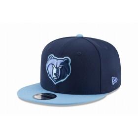 【ニューエラ公式】 9FIFTY NBA メンフィス・グリズリーズ ネイビー ブルーバイザー メンズ レディース 57.7 - 61.5cm NBA キャップ 帽子 12031612 NEW ERA