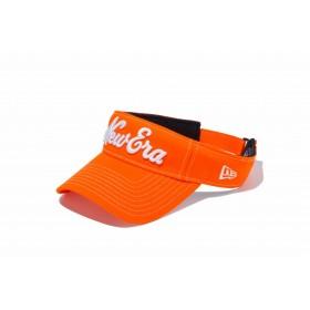 【ニューエラ公式】 ゴルフ サンバイザー ストレッチコットン ウォッシャブル New Eraオールドロゴ ラッシュオレンジ × ホワイト メンズ レディース 55.8 - 59.6cm キャップ 帽子 11899099 NEW ERA