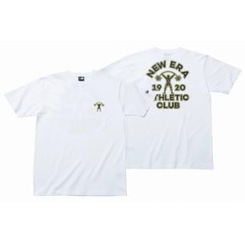 NEW ERA ニューエラ コットン Tシャツ NEW ERA ATHLETIC CLUB ホワイト 半袖 ウェア メンズ レディース Medium 11901384 NEWERA