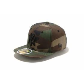 【ニューエラ公式】キッズ 59FIFTY ニューヨーク・ヤンキース ウッドランドカモ × ブラック 男の子 女の子 6 1/2 (52cm) MLB キャップ 帽子 11310391 NEW ERA