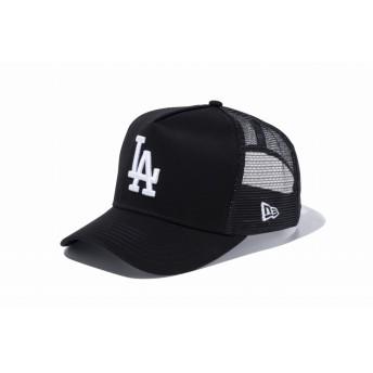 NEW ERA ニューエラ 9FORTY D-Frame トラッカー ロサンゼルス・ドジャース ブラック × ホワイト アジャスタブル サイズ調整可能 ベースボールキャップ キャップ 帽子 メンズ レディース 55.8 - 59.6cm 11433994 NEWERA