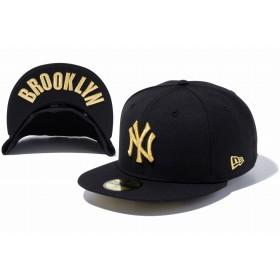NEW ERA ニューエラ 59FIFTY UNDERVISOR ニューヨーク・ヤンキース ブラック × ゴールド BROOKLYN ベースボールキャップ キャップ 帽子 メンズ レディース 7 (55.8cm) 11308542 NEWERA