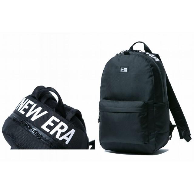 【ニューエラ公式】 ライトパック 24L プリントロゴ ブラック × ホワイト メンズ レディース ワンサイズ バックパック 11556638 NEW ERA リュック