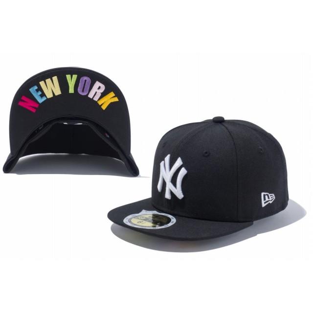 NEW ERA ニューエラ キッズ 59FIFTY UNDERVISOR ニューヨーク・ヤンキース ブラック × ホワイト NEW YORKマルチカラー ベースボールキャップ キャップ 帽子 男の子 女の子 6 1/2 (52cm) 11310392 NEWERA