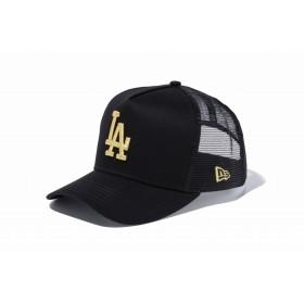 NEW ERA ニューエラ 9FORTY D-Frame トラッカー ロサンゼルス・ドジャース ブラック × ゴールド アジャスタブル サイズ調整可能 ベースボールキャップ キャップ 帽子 メンズ レディース 55.8 - 59.6cm 11433995 NEWERA メッシュキャップ