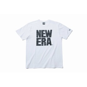 【ニューエラ公式】 コットン Tシャツ タイガーストライプラインカモ ビッグニューエラ ホワイト メンズ レディース Small 半袖 Tシャツ 11901380 NEW ERA