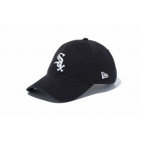 NEW ERA ニューエラ 9TWENTY クロスストラップ ウォッシュドコットン シカゴ・ホワイトソックス ブラック × ホワイト アジャスタブル サイズ調整可能 ローキャップ ベースボールキャップ キャップ 帽子 メンズ レディース 56.8 - 60.6cm 11596338 NEWERA