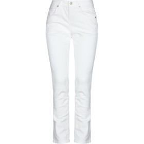 《セール開催中》CAMBIO レディース パンツ ホワイト 34 コットン 90% / ポリエステル 8% / ポリウレタン 2%