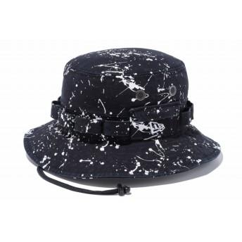 NEW ERA ニューエラ アドベンチャー スプラッシュ ウォッシュドダックブラック ホワイトフラッグ サファリハット アドベンチャーハット アウトドア トレッキング ハット 帽子 メンズ レディース S/M (57cm) 11901159 NEWERA